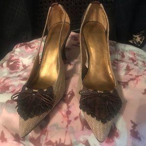 9West  2 tone Tweed heels